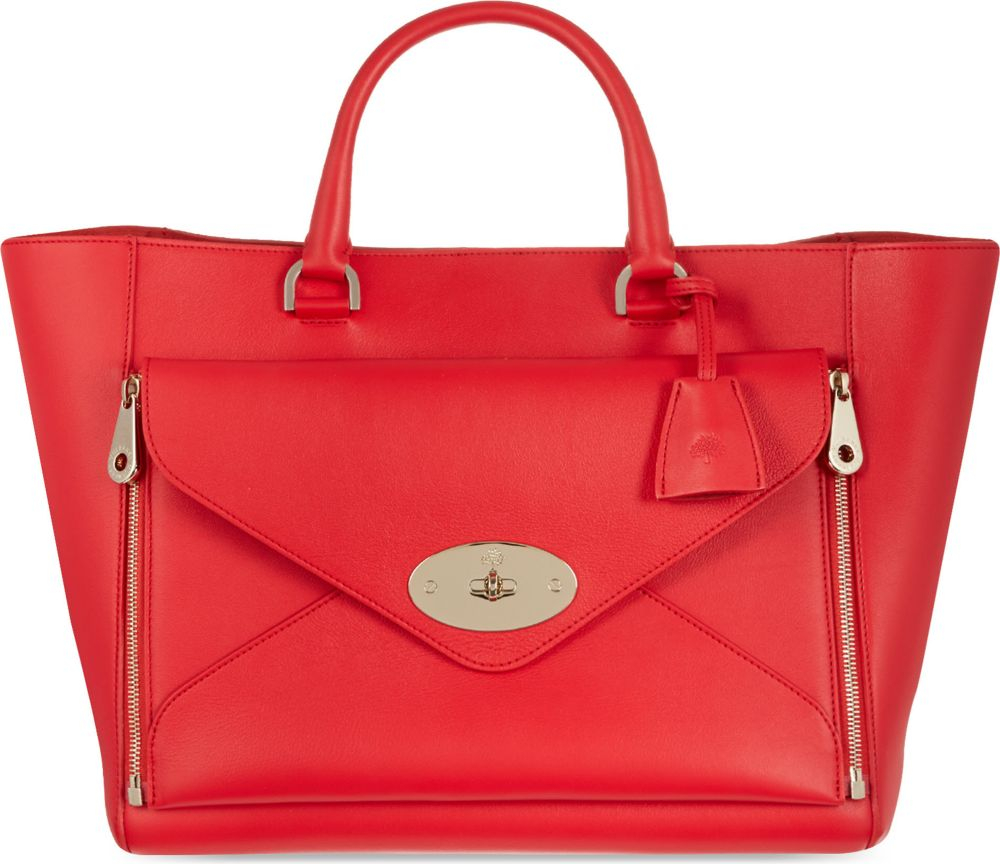 ... wholesale mulberry willow tote for women in red lyst 41e83 fabbb 5f047e4356652