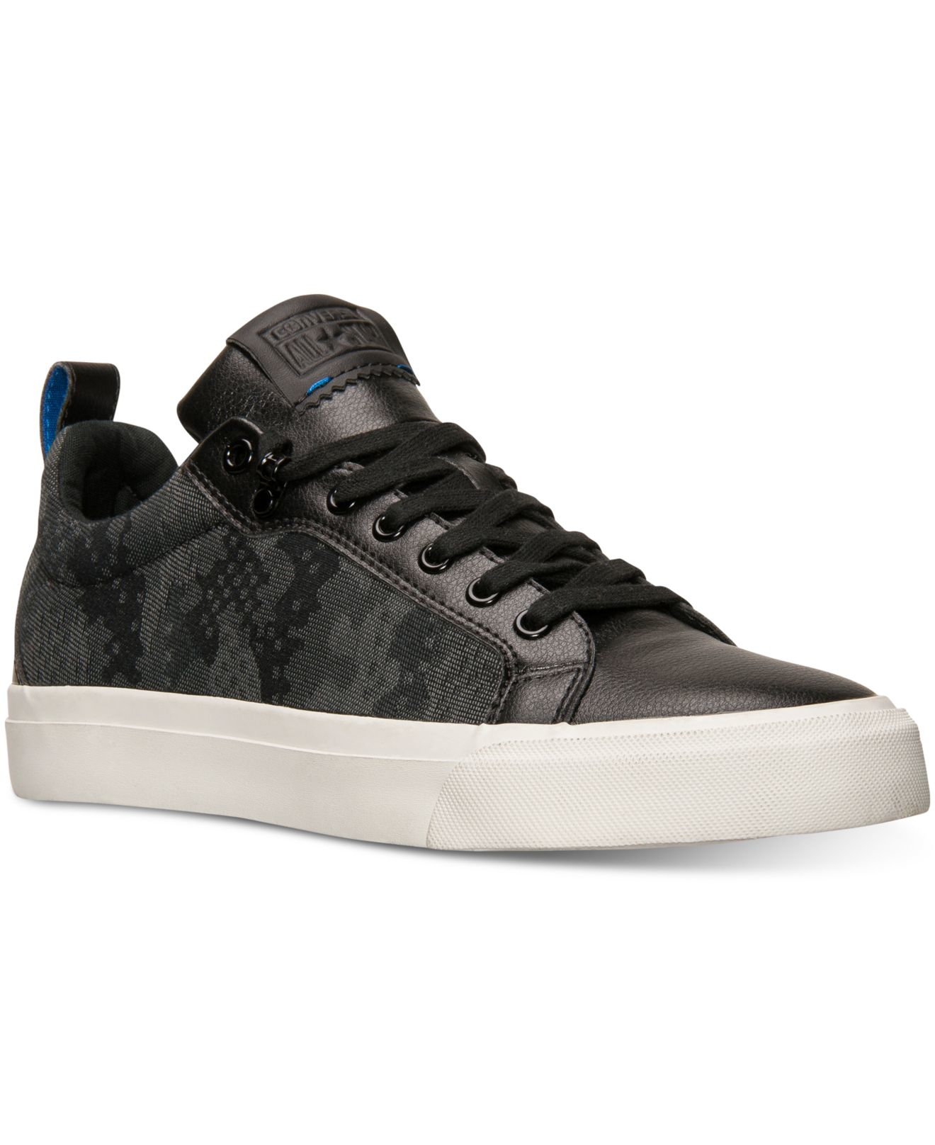 Details about CONVERSE MEN SHOES ALL STAR FULTON CASUAL SNEAKERS BLACK BLUE CAMO LACE UP