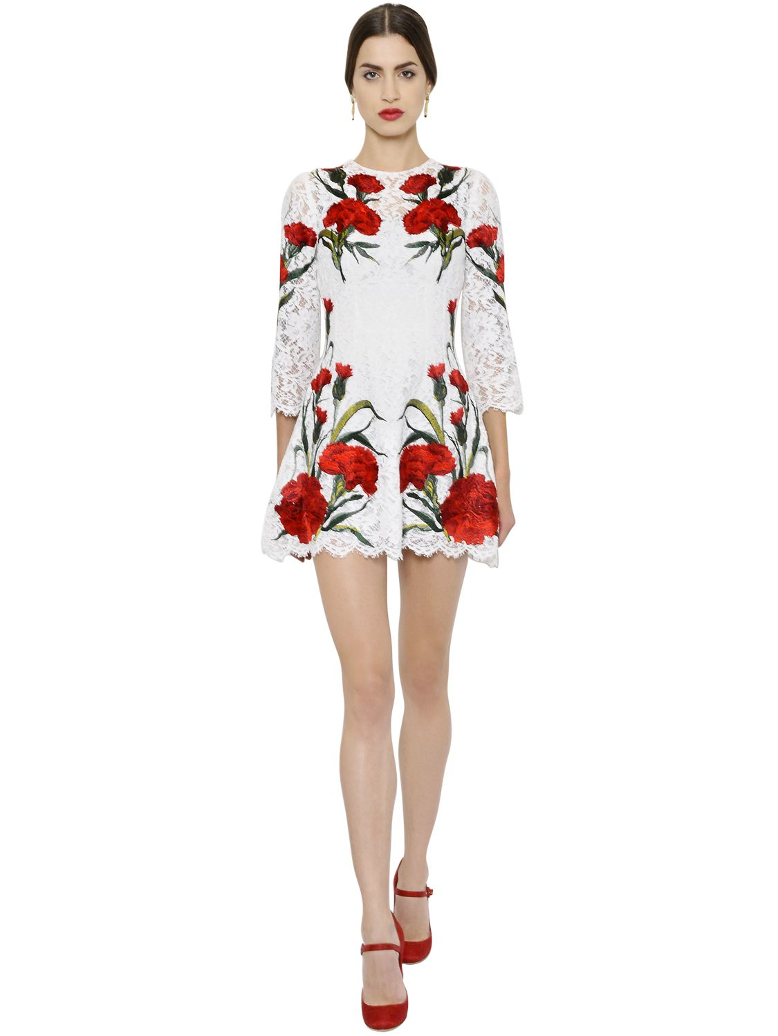 Lyst dolce gabbana floral embroidered cordonetto lace