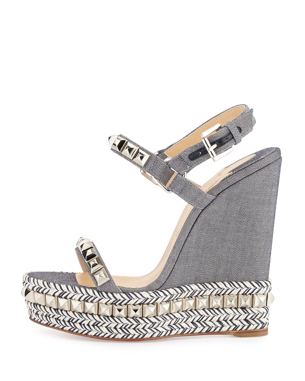 christian louboutin cataclou 60 studded espadrille sandals
