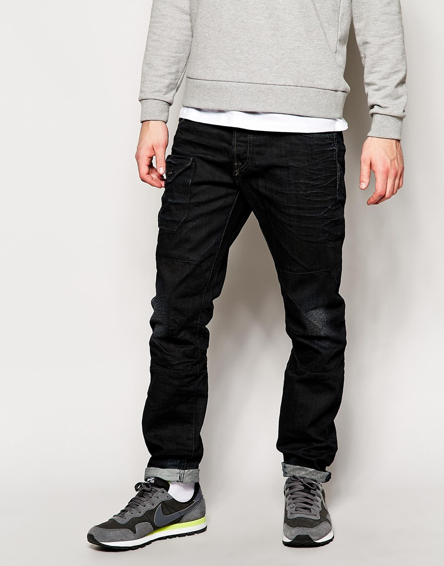 jack jones jeans with front pocket in tapered fit in. Black Bedroom Furniture Sets. Home Design Ideas