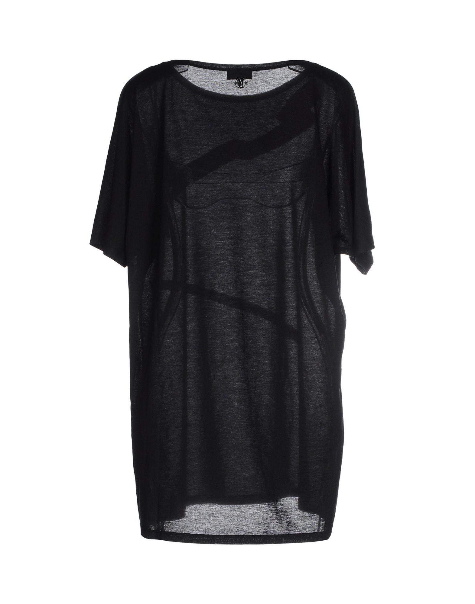 Armani jeans t shirt in black lyst for Black armani t shirt