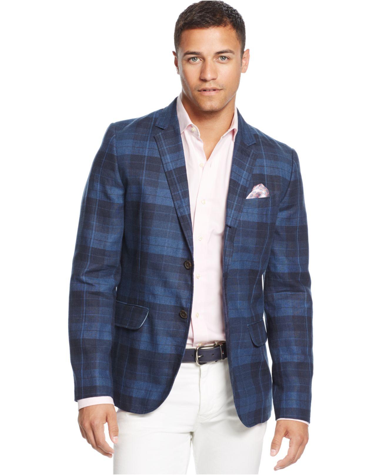 Tommy hilfiger Vallejo Linen Sport Coat in Blue for Men | Lyst