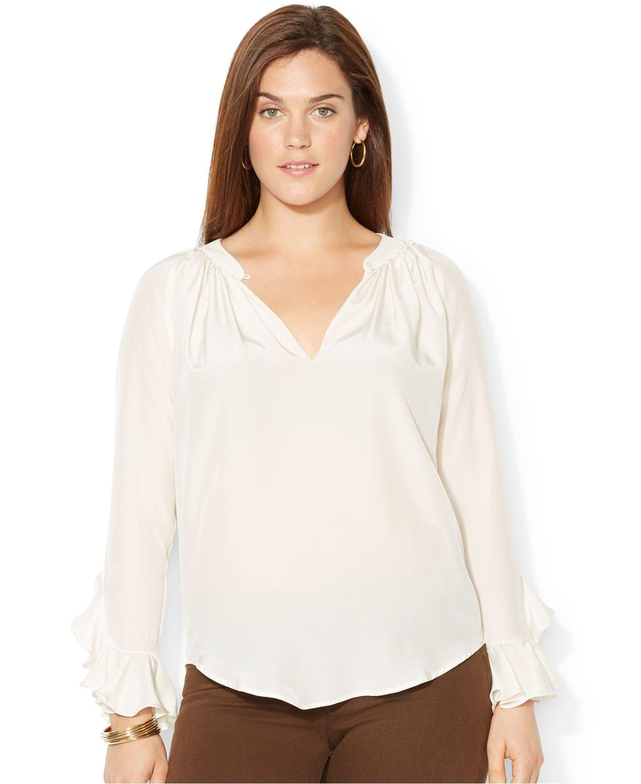 Original 30 Beautiful Ralph Lauren Women Blouses | Sobatapk.com