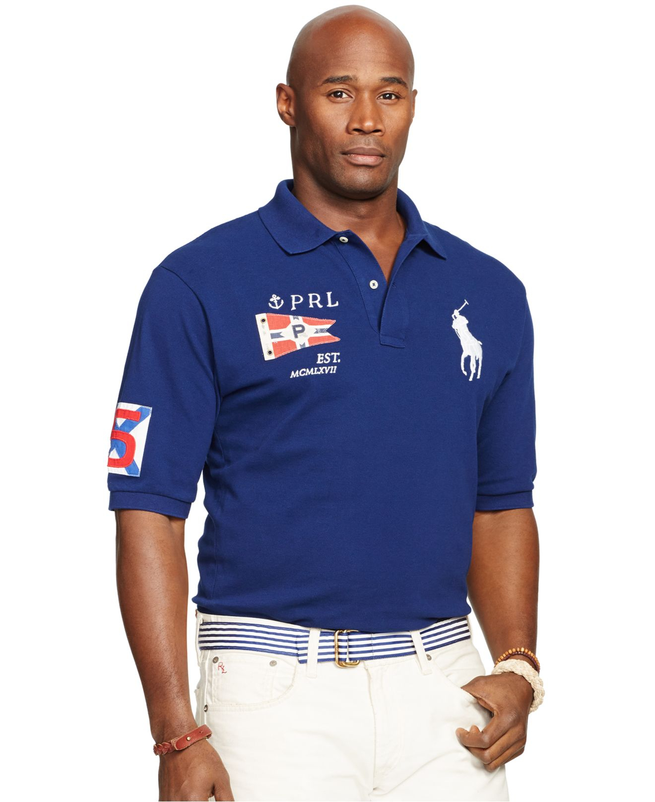 Lyst Polo Ralph Lauren Big And Tall Classic Mesh Polo