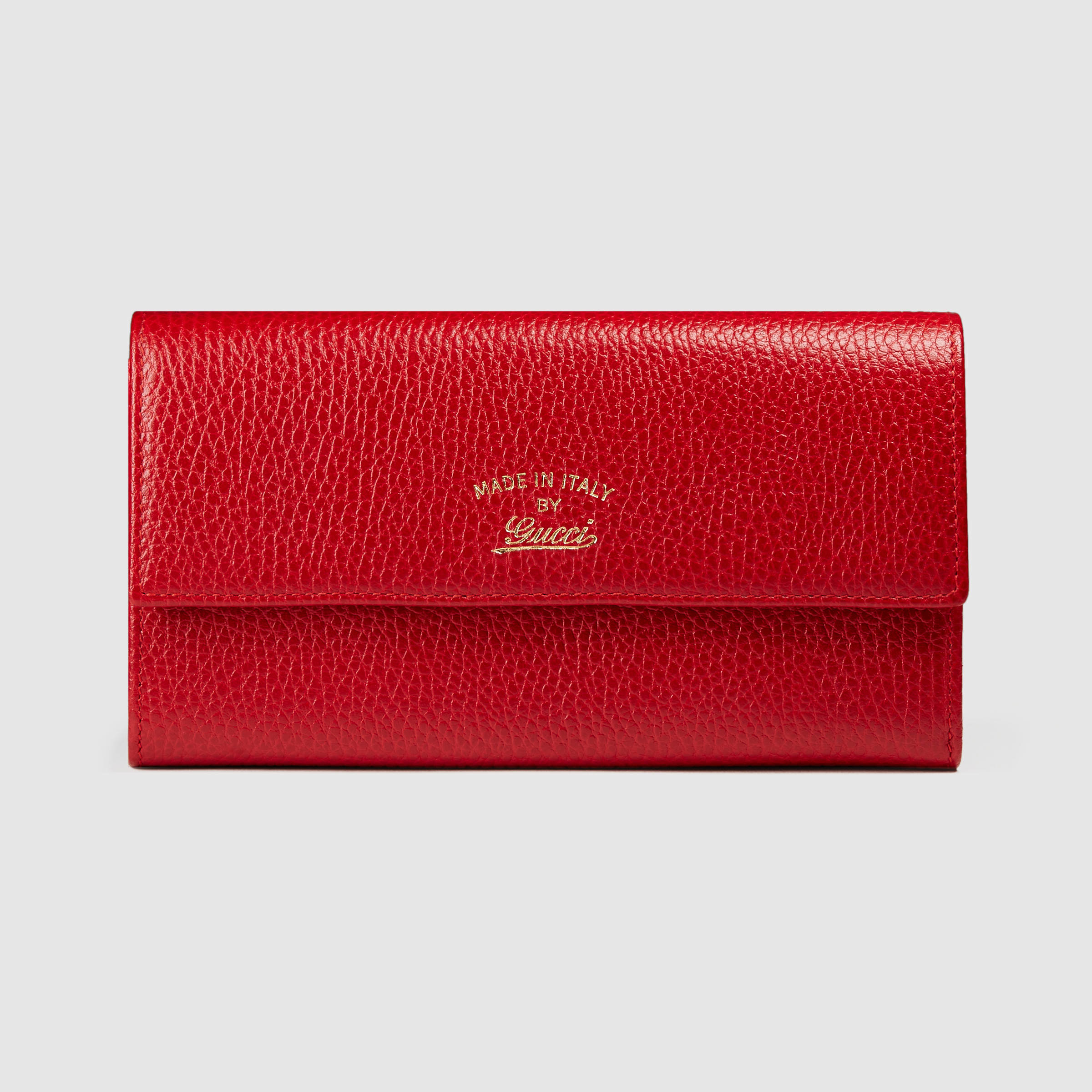 Gucci Swing Leather Continental Wallet in Red (red leather ...