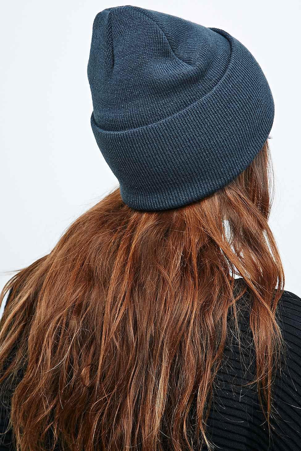 c7d29b61d554ca Carhartt Watch Hat Beanie In Dark Petrol in Blue - Lyst carhartt beanie dark  blue