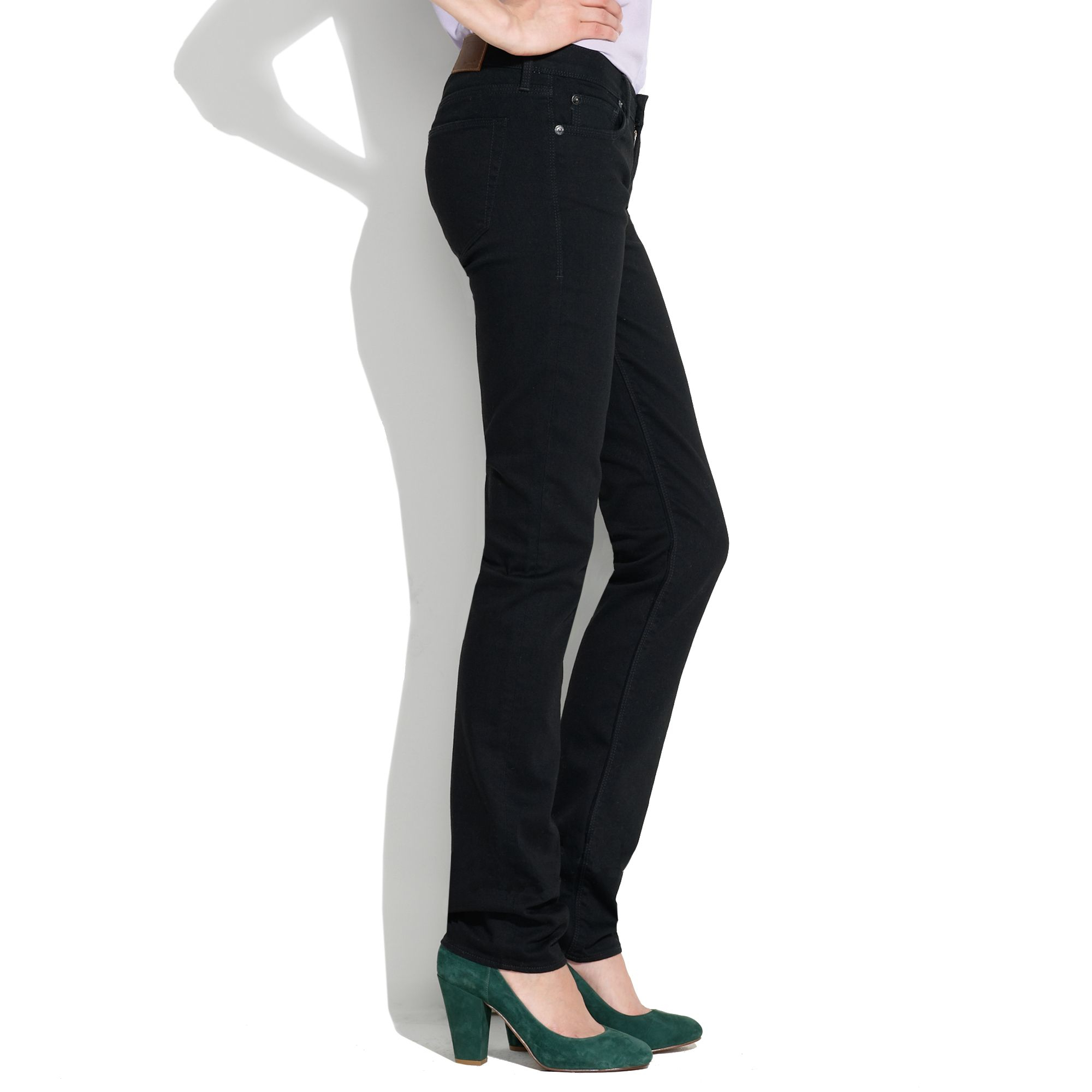 pretty cool fantastic savings fast delivery Madewell Rail Straight Jeans In Black Frost - Lyst