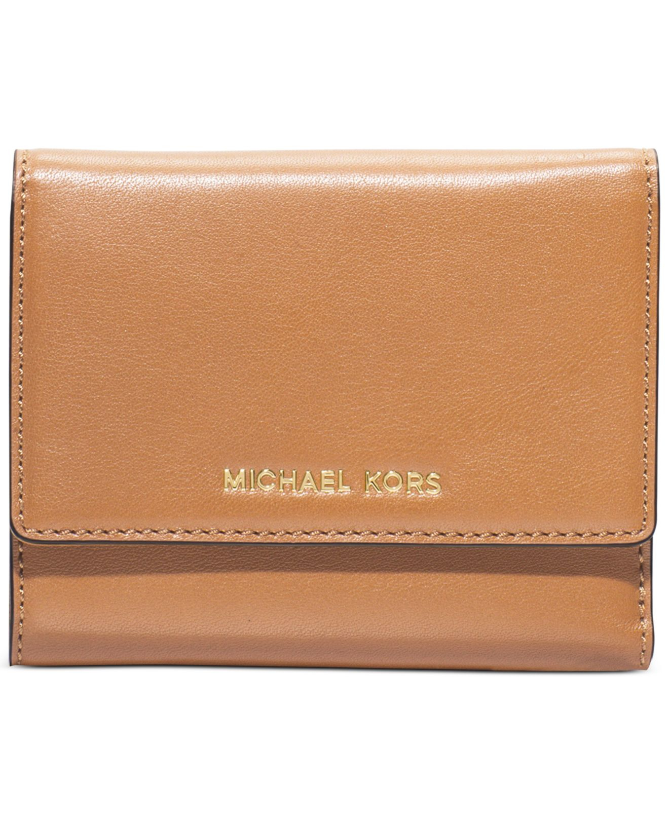 bc36f538a83e Lyst - Michael Kors Michael Colby Medium Trifold Wallet in Metallic