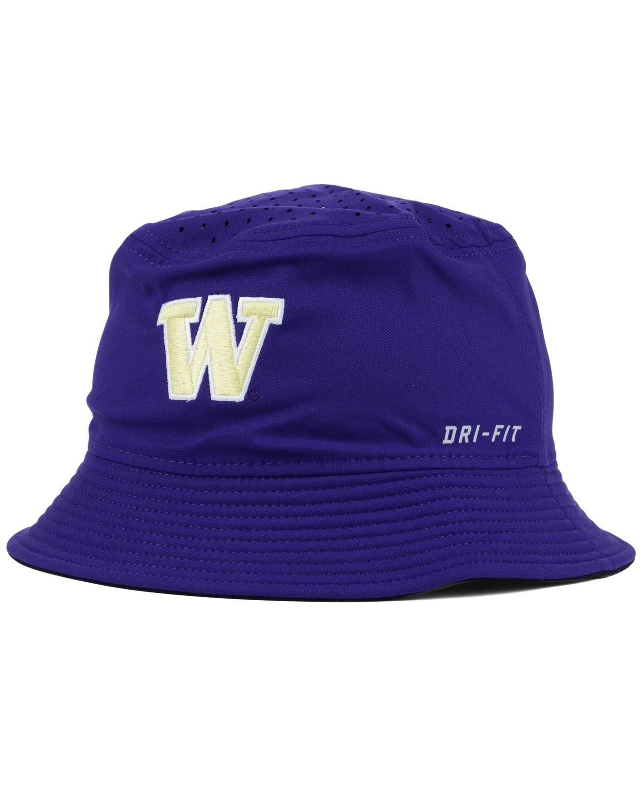 Lyst - Nike Washington Huskies Vapor Bucket Hat in Purple for Men d78e88ec2af