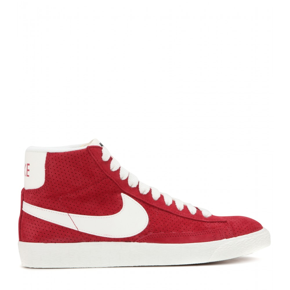 promo code a7f45 af823 Nike Blazer Mid Vintage Suede High-top Sneakers in Red - Lyst