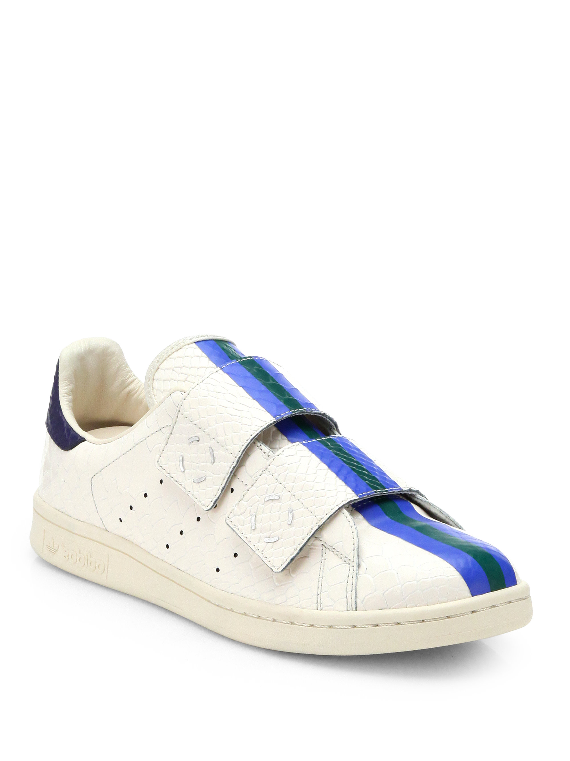 adidas by raf simons double velcro slipon sneakers in. Black Bedroom Furniture Sets. Home Design Ideas