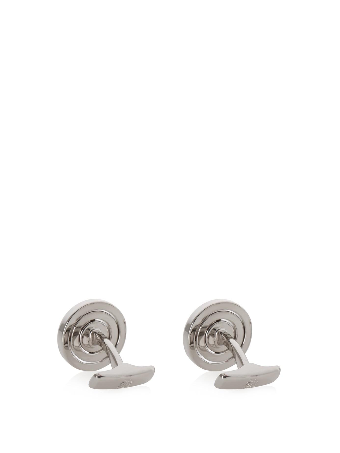 Dunhill Palladium-plated Carbon Fibre Cufflinks - Silver r1lFj