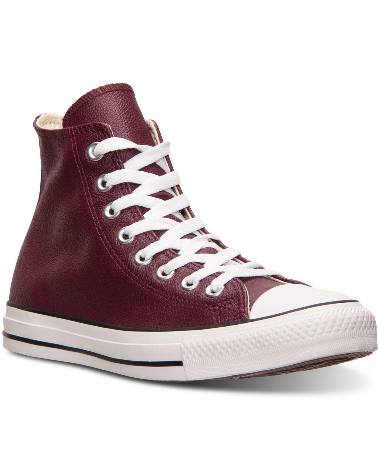 Lyst - Converse Men s Chuck Taylor All Star Hi Seasonal Leather ... 002a6f376