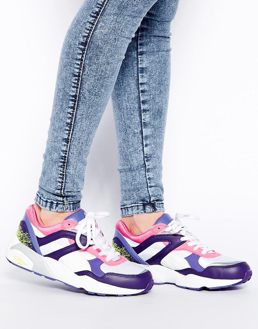 Lyst - PUMA Trinomic R698 Fluro Pink Sneakers in Purple 7a69893aff4d