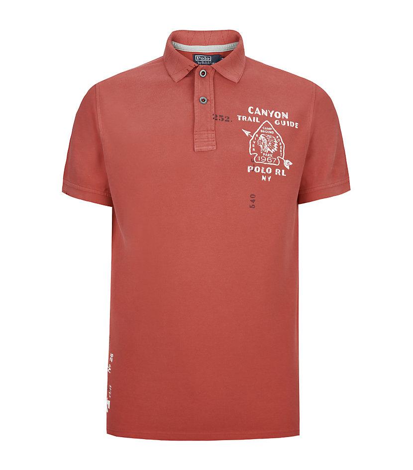 Polo ralph lauren custom fit canyon trail polo shirt in for Polo ralph lauren custom fit polo shirt