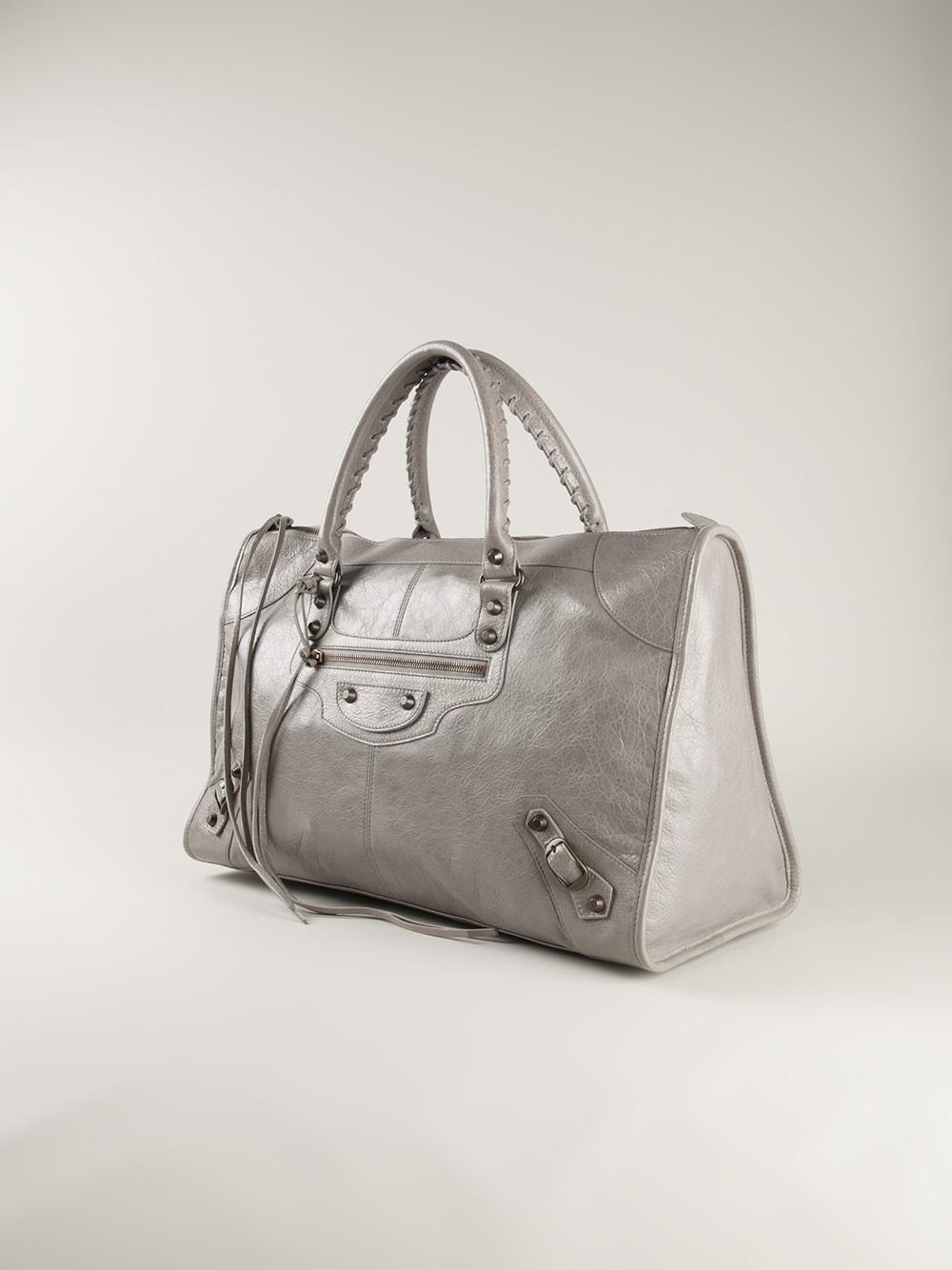 Balenciaga Classic Work Tote in Gray | Lyst