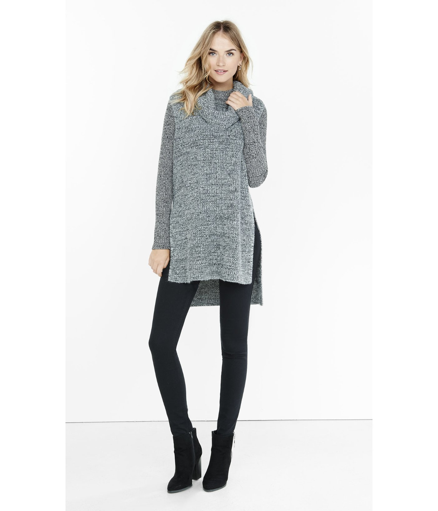 Tunic Sweater Side Slits - Cashmere Sweater England