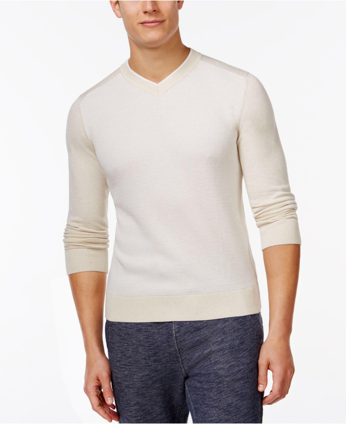 tommy hilfiger daniel textureblocked v neck sweater in. Black Bedroom Furniture Sets. Home Design Ideas