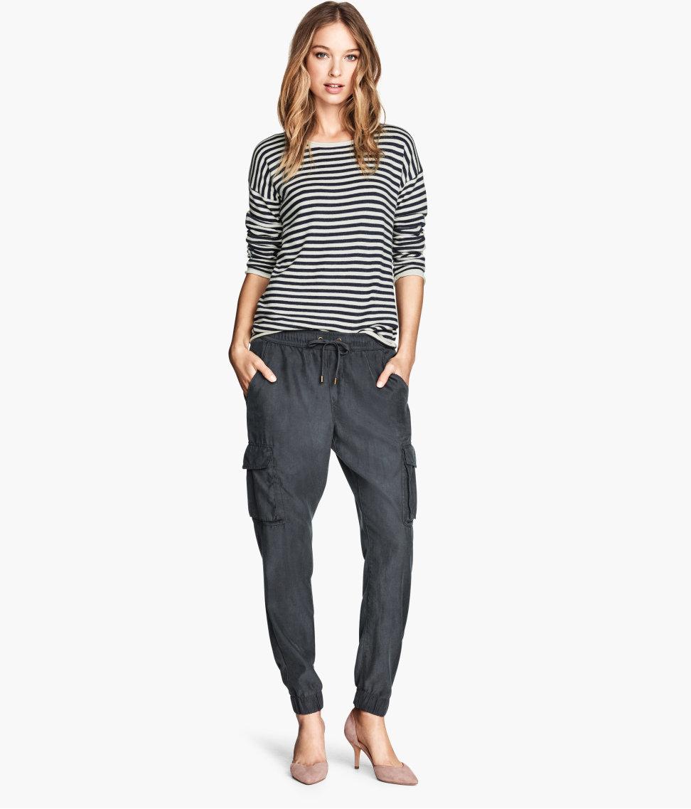 Luxury Hu0026m Linen-blend Cargo Trousers In Blue For Men (Dark Blue) - Save 50% | Lyst