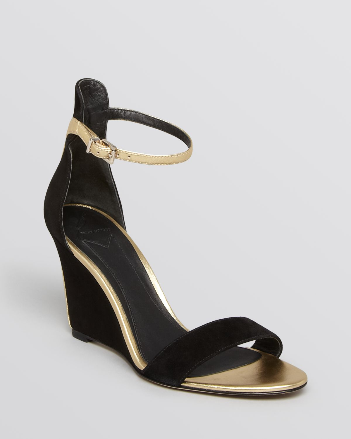 a20c1e3af67 B Brian Atwood Metallic Wedge Sandals Roberta