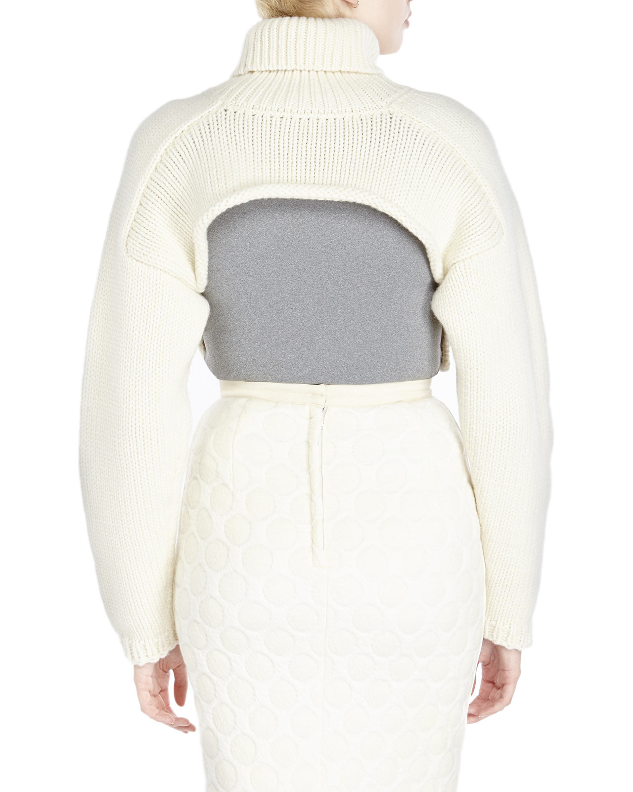 Ter et bantine Cropped Turtleneck Sweater in Natural | Lyst