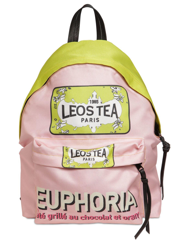 5391949ed2 Leo Euphoria Printed Nylon Backpack in Pink - Lyst