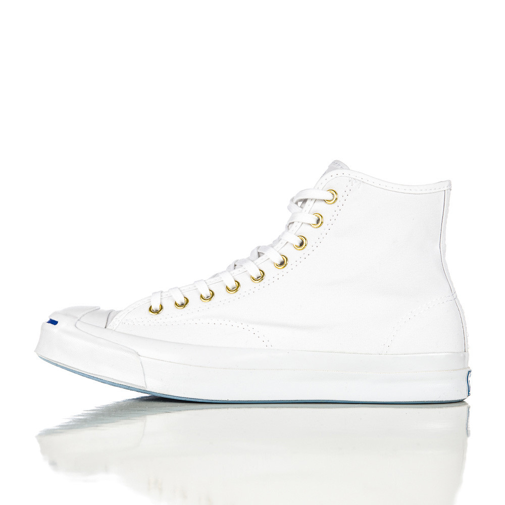 22bc9476a5bc Lyst - Converse Jack Purcell Signature Duck Canvas Hi In White in ...
