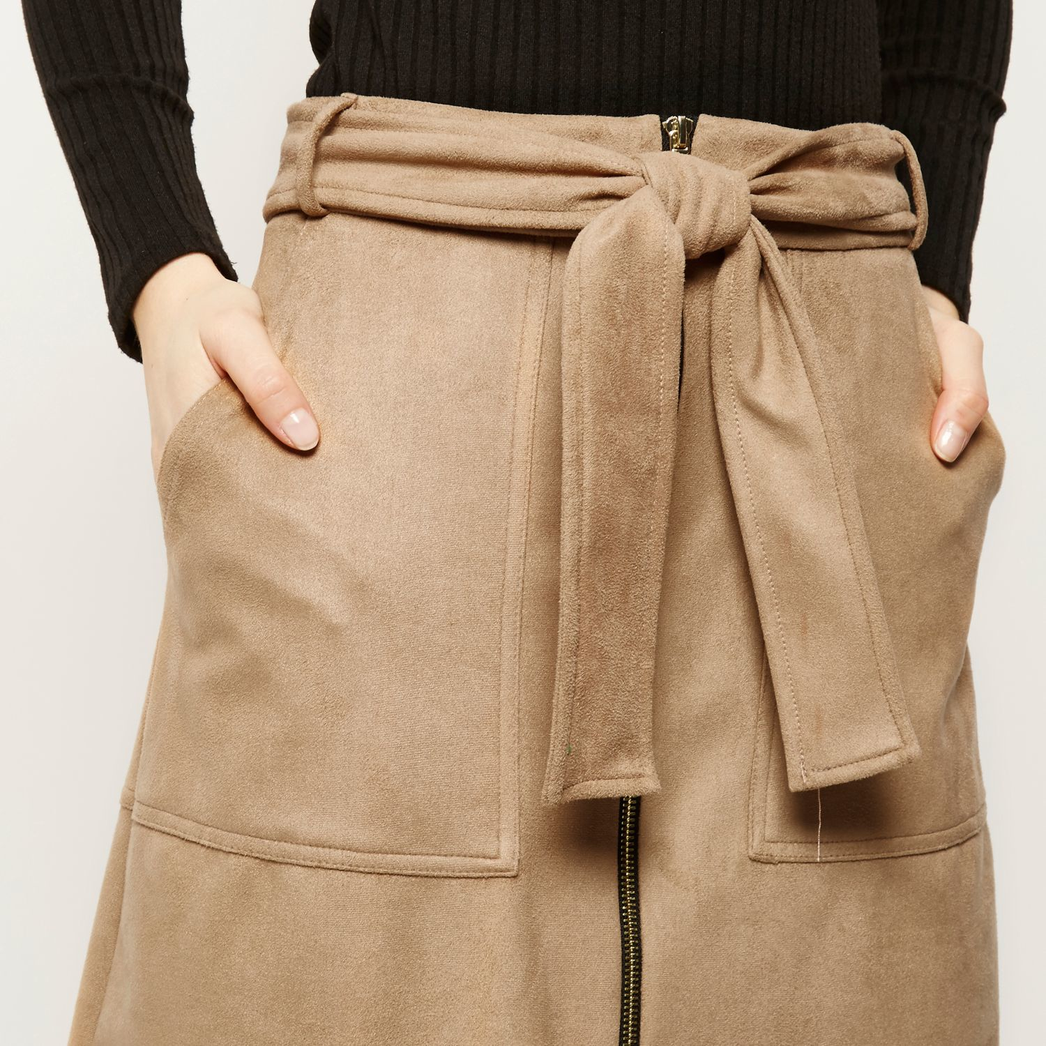 Tan a line skirt – Fashionable skirts 2017 photo blog
