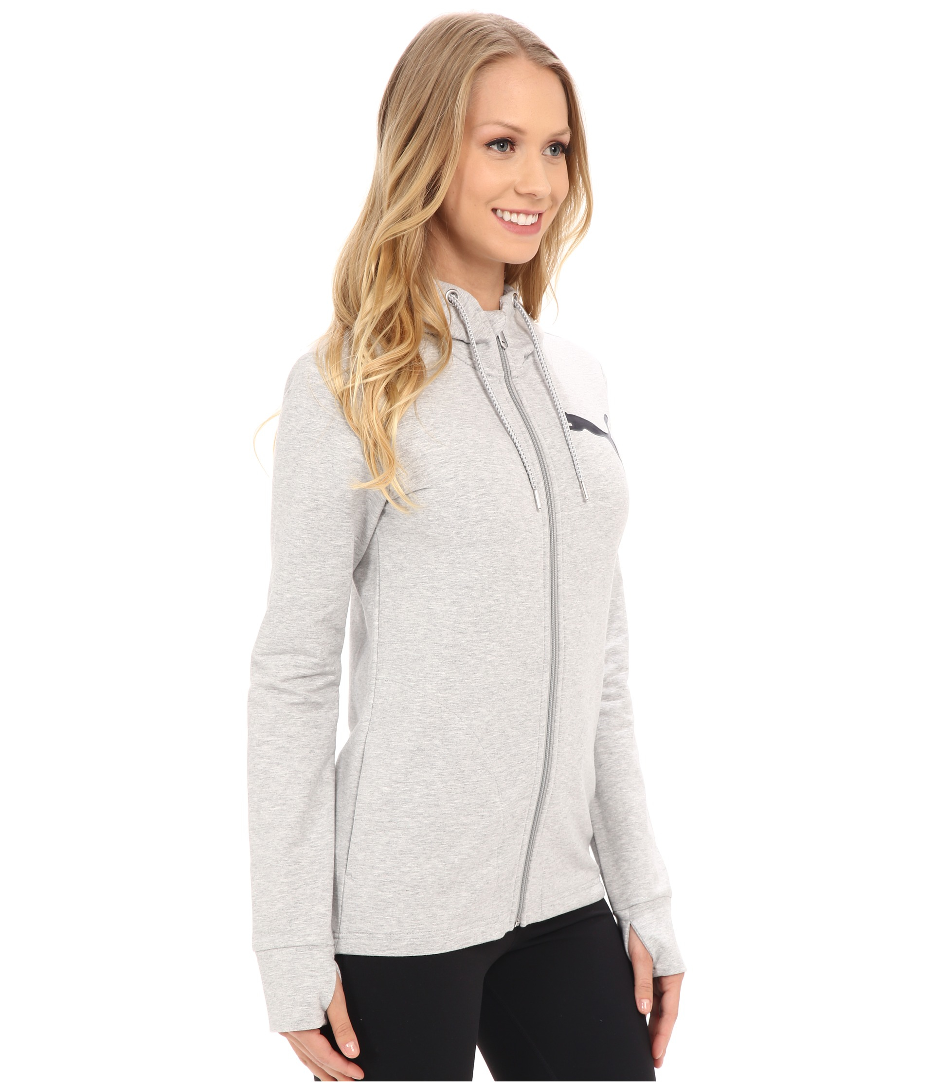 2c887aa9c5ce Lyst - PUMA Active Track Jacket in Gray