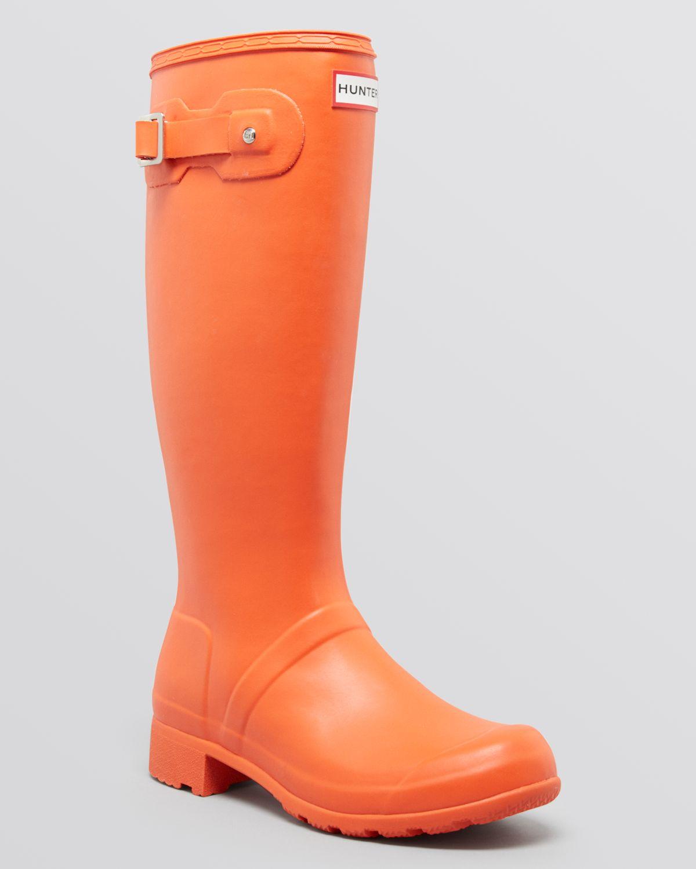 Hunter Original Tour Packable Rain Boots in Orange | Lyst