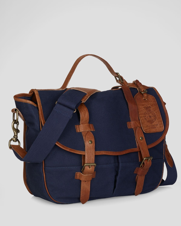 e48cee98ba91 get lyst polo ralph lauren canvas messenger bag in blue for men 4932c a4f20