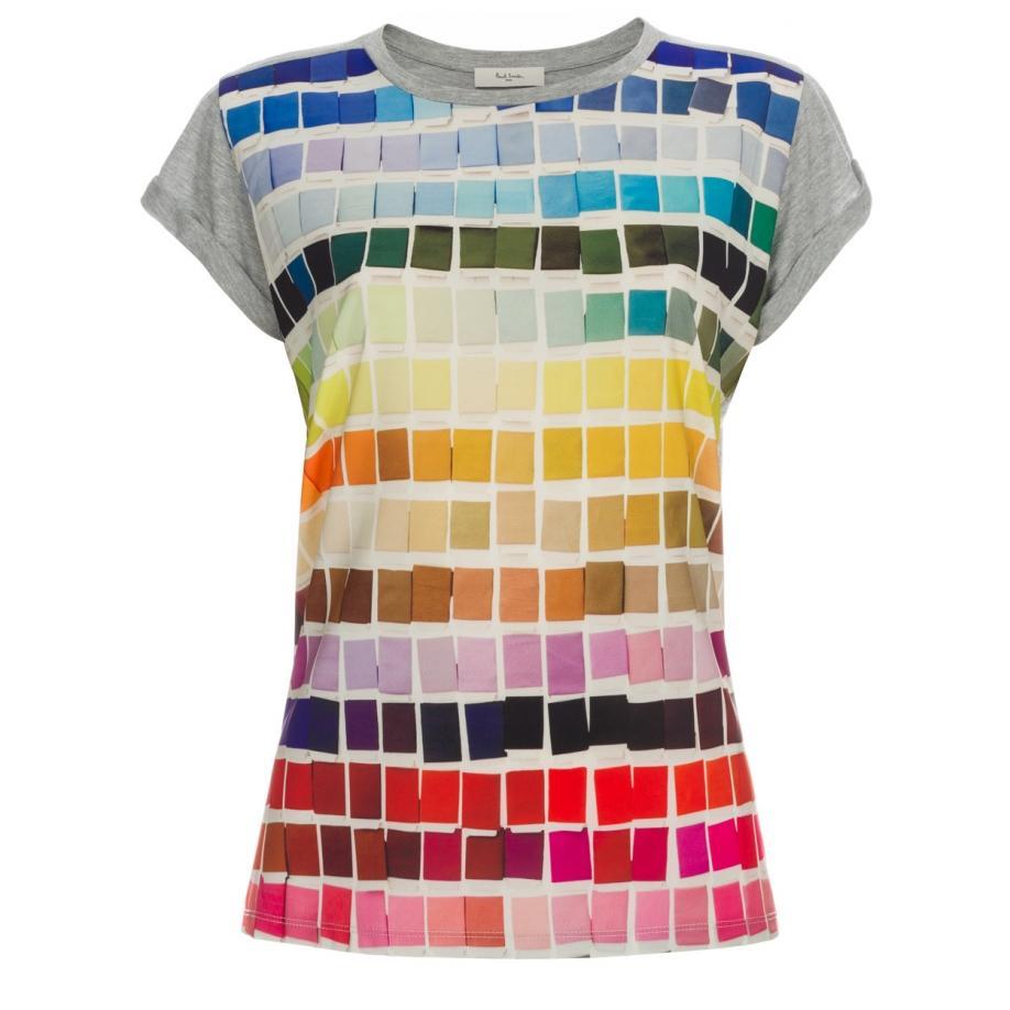 78c5e4c9 Paul Smith Women's Grey 'colour Chart' Print T-shirt - Lyst