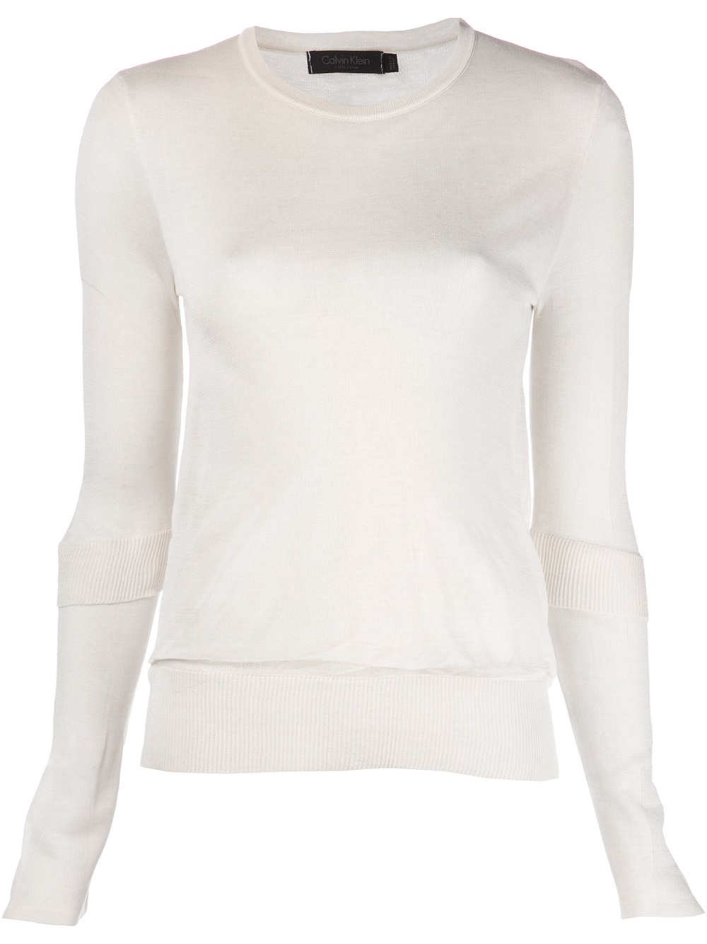 calvin klein pullover sweater in white lyst. Black Bedroom Furniture Sets. Home Design Ideas