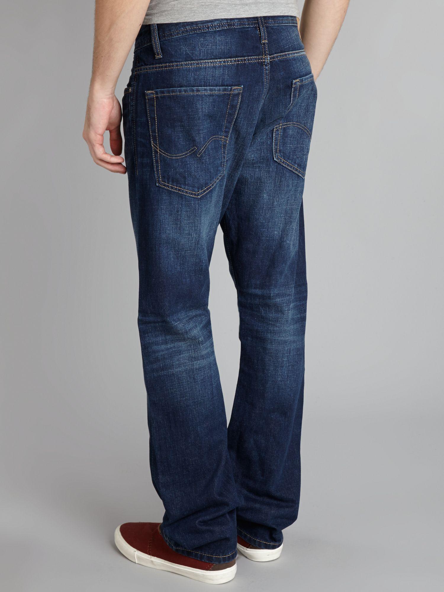 jack jones clark original 529 regular fit jeans in blue for men. Black Bedroom Furniture Sets. Home Design Ideas