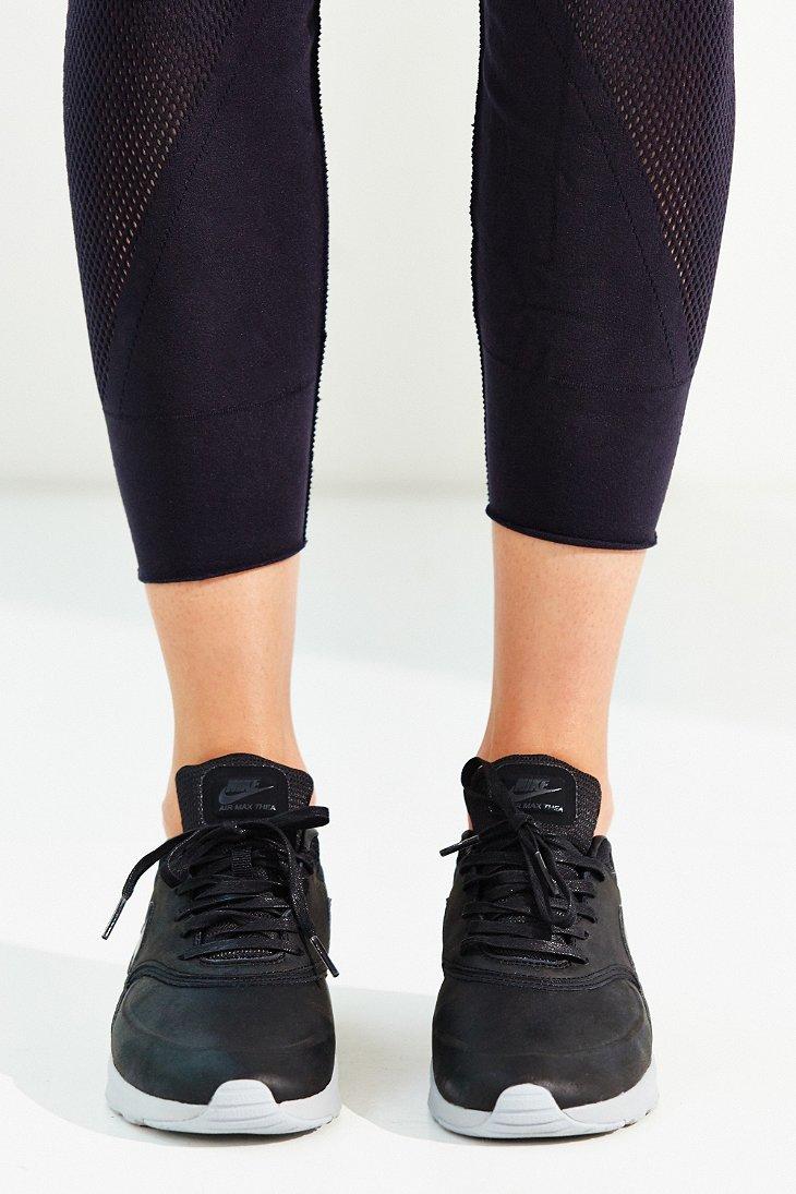 Nike Leather Air Max Thea Premium Sneaker in Black Lyst