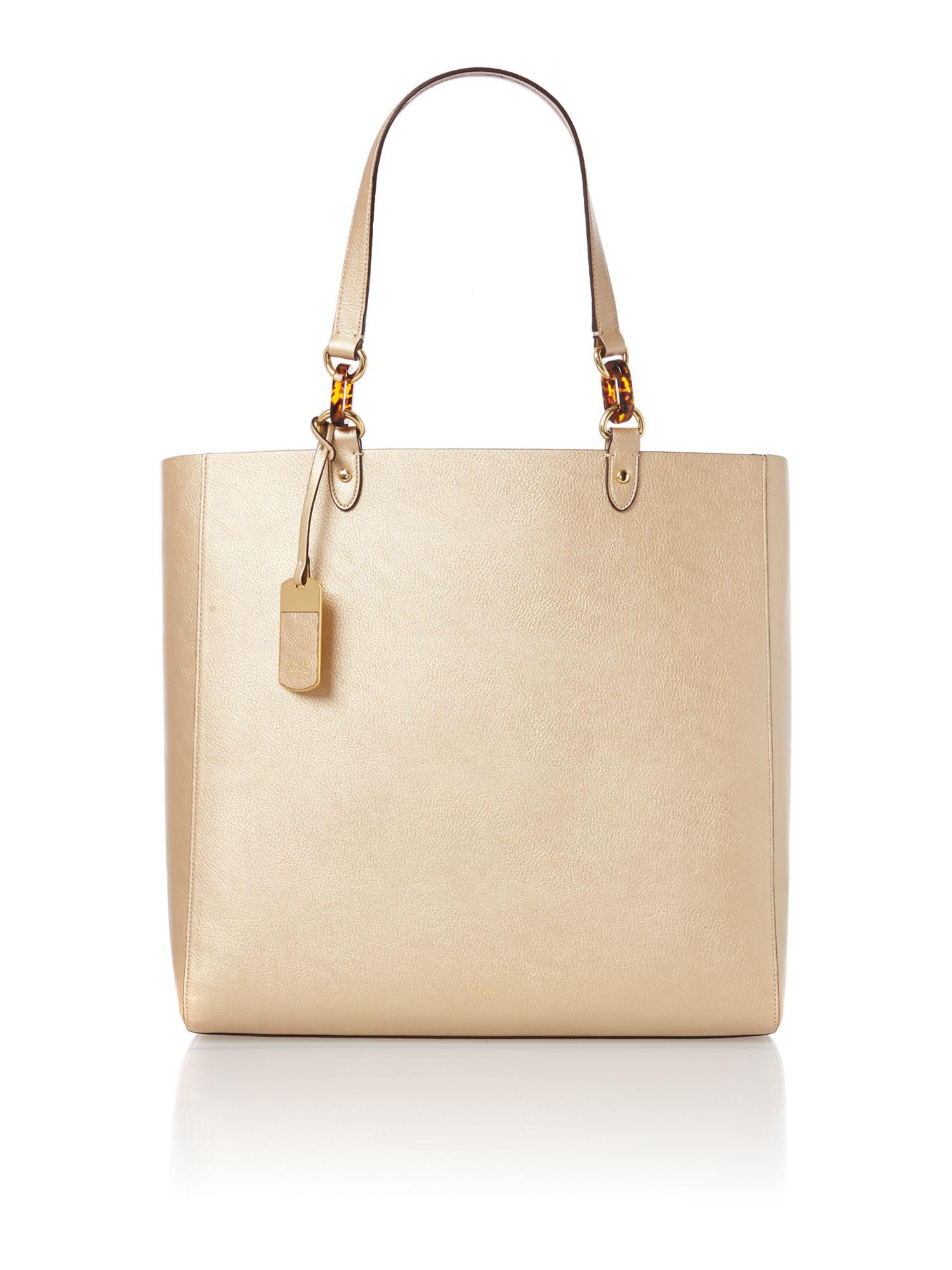 Lauren by ralph lauren Bembridge Gold Tote Bag in Pink | Lyst
