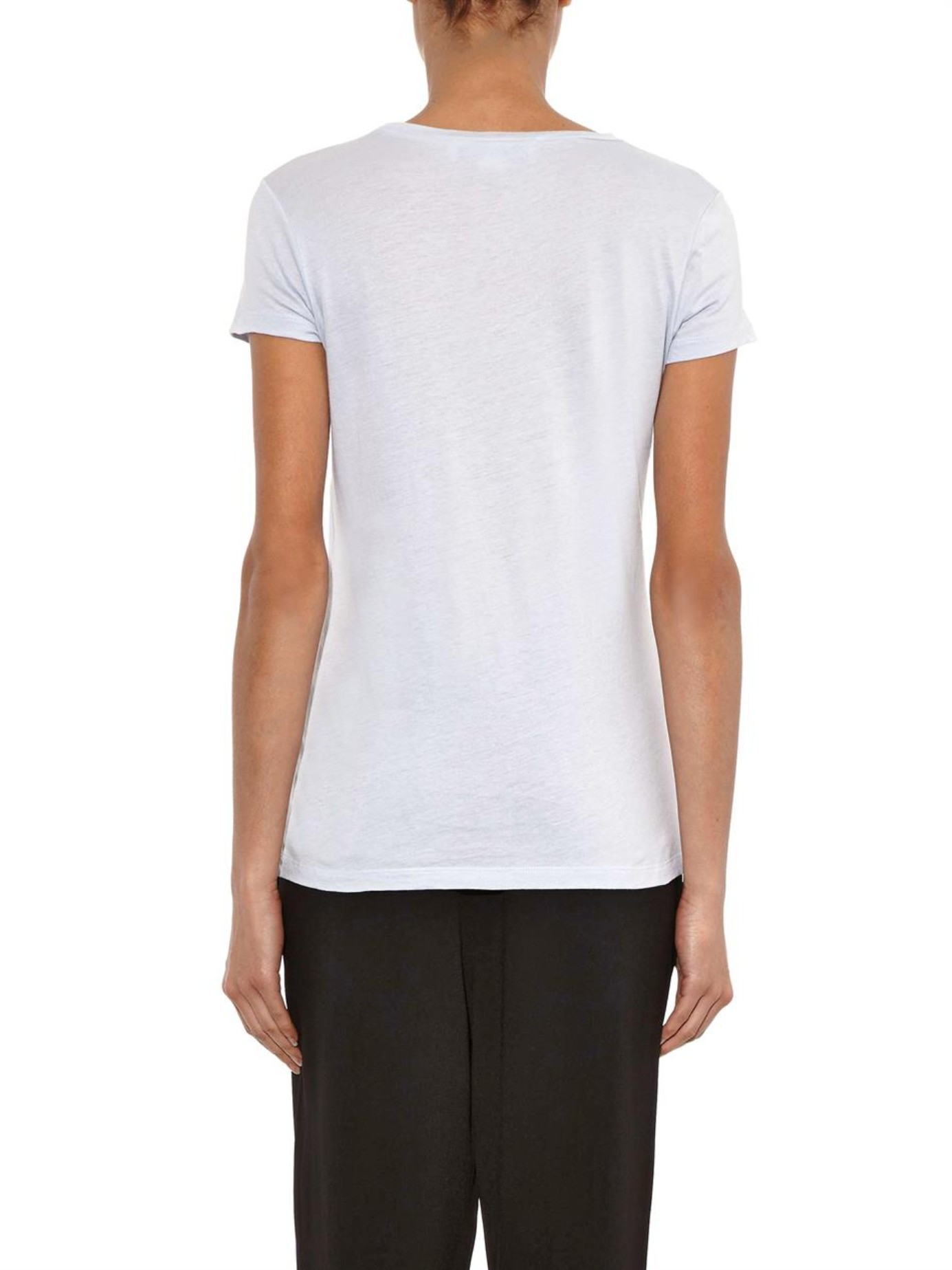 Stella Mccartney Greetings From Stella T Shirt In Blue Lyst