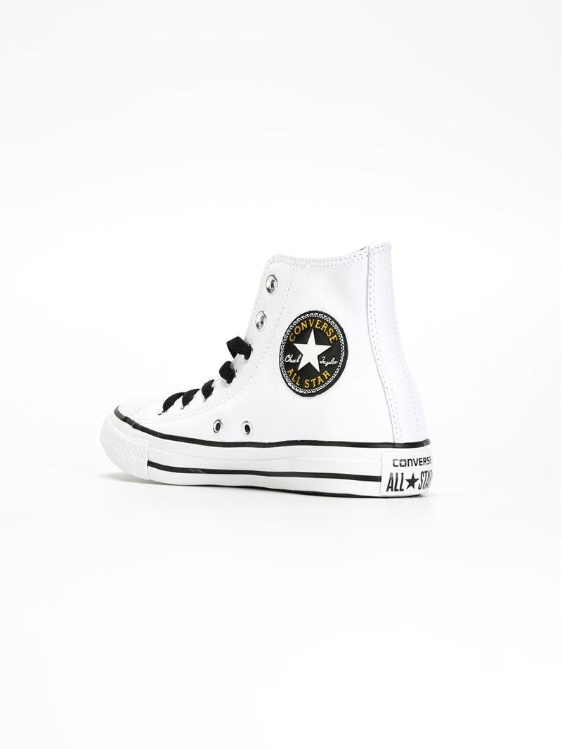 Converse Leather 'chuck Taylor All Star Andy Warhol' Sneakers in White