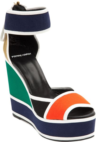 Pierre Hardy Mosaic Wedge in Multicolor (multicolour) - Lyst