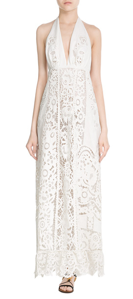 Valentino Embroidered Cotton Maxi Dress - White in White | Lyst