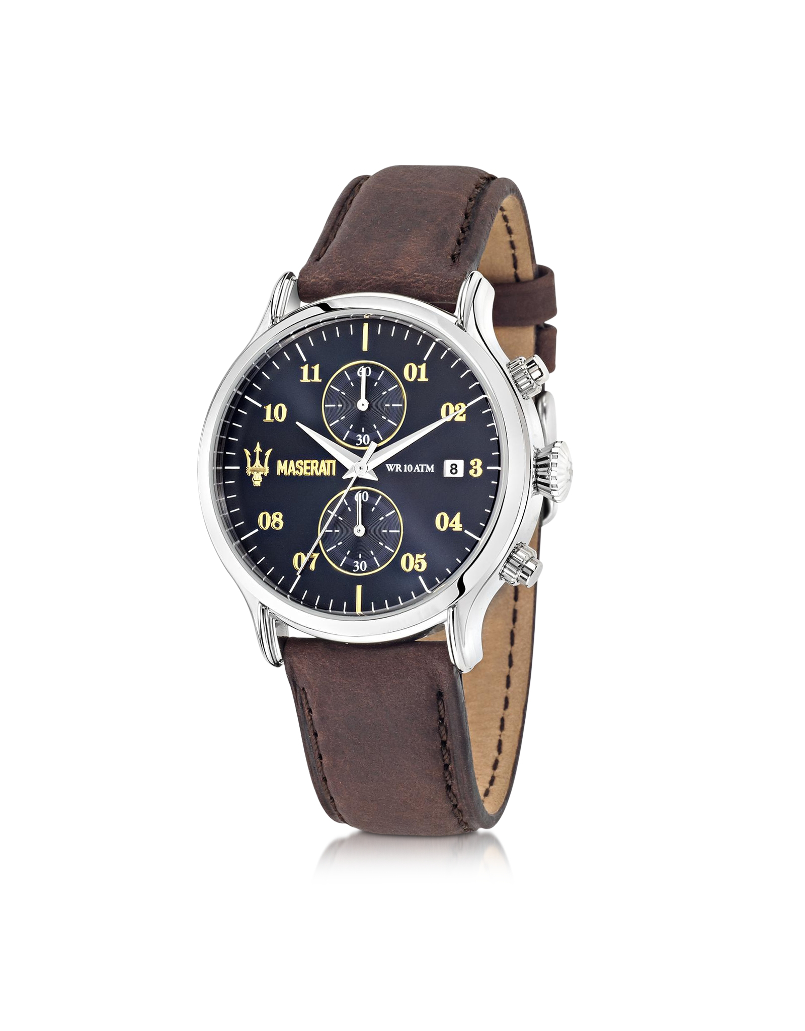 Watch Mens Black Chronograph Ideas Watches Ar1919 Brown Leather