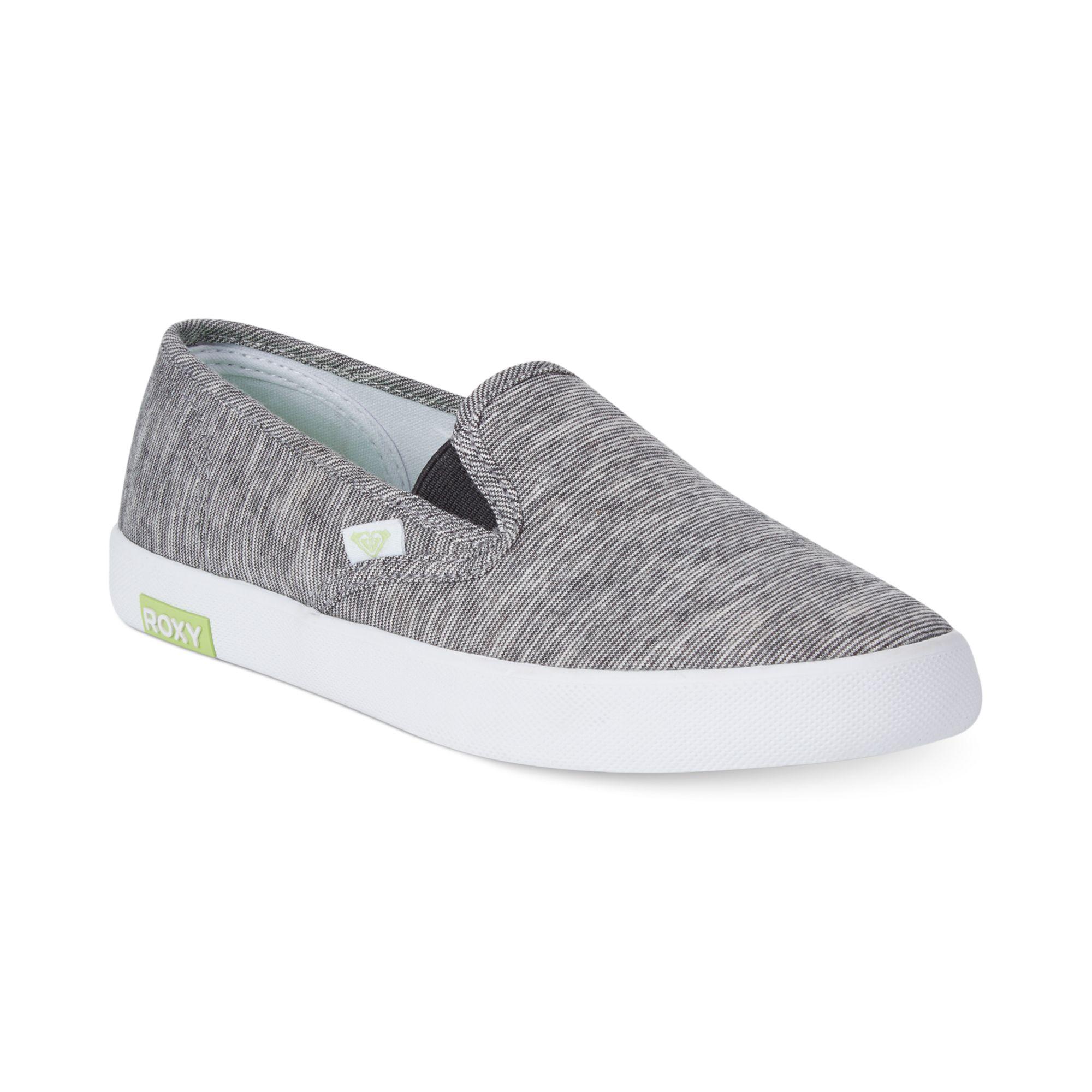Roxy Ventura Slip On Sneakers in Gray