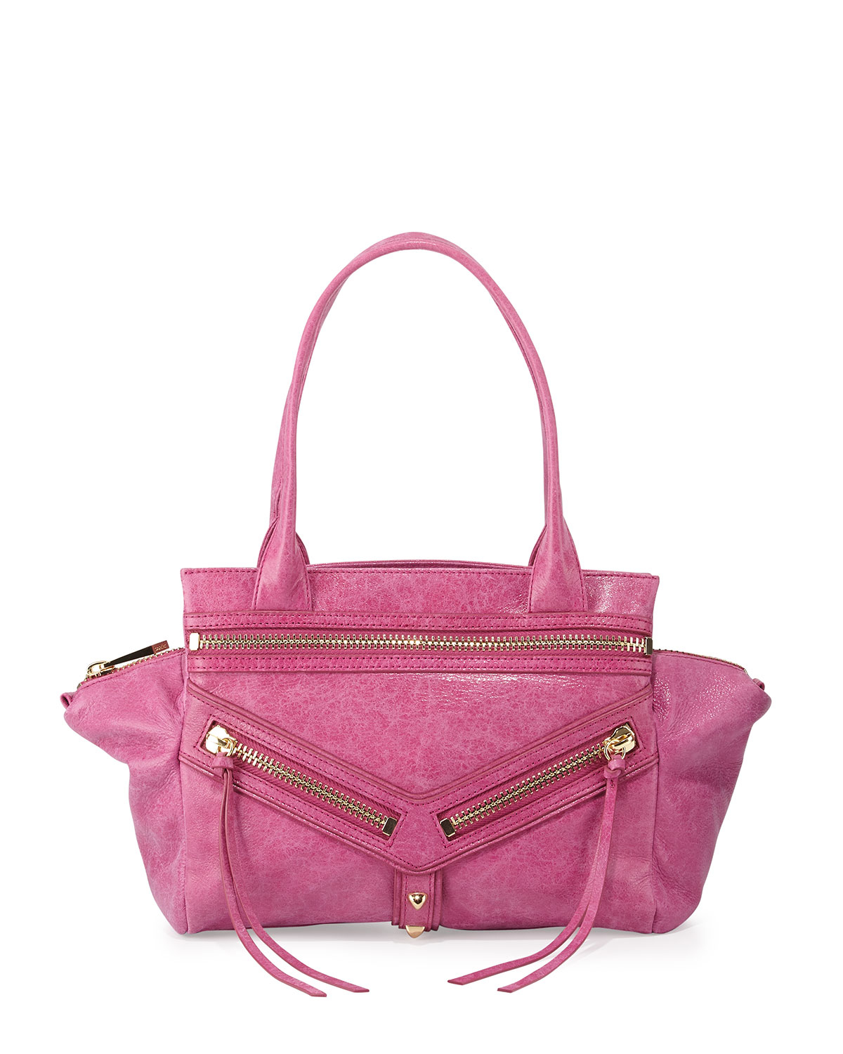 61a2e2c33 Botkier Legacy Studded Small Envelope Satchel Bag in Pink - Lyst