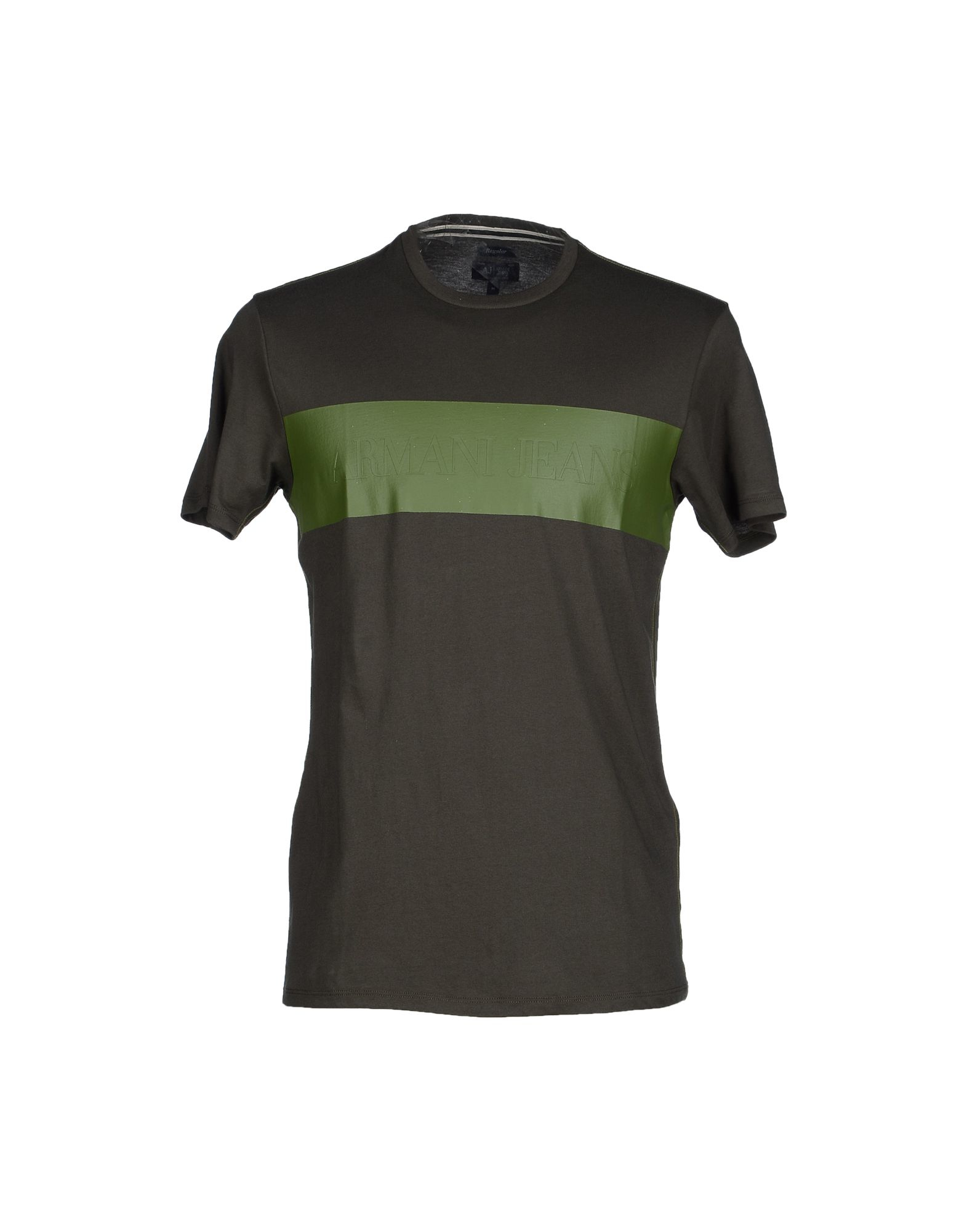 armani jeans t shirt in green for men lyst. Black Bedroom Furniture Sets. Home Design Ideas