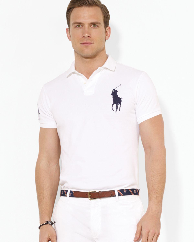 aa44e02e3d4 ... official store polo ralph lauren men polo rl logo custom fit polo shirt  ed6a1 e6e43