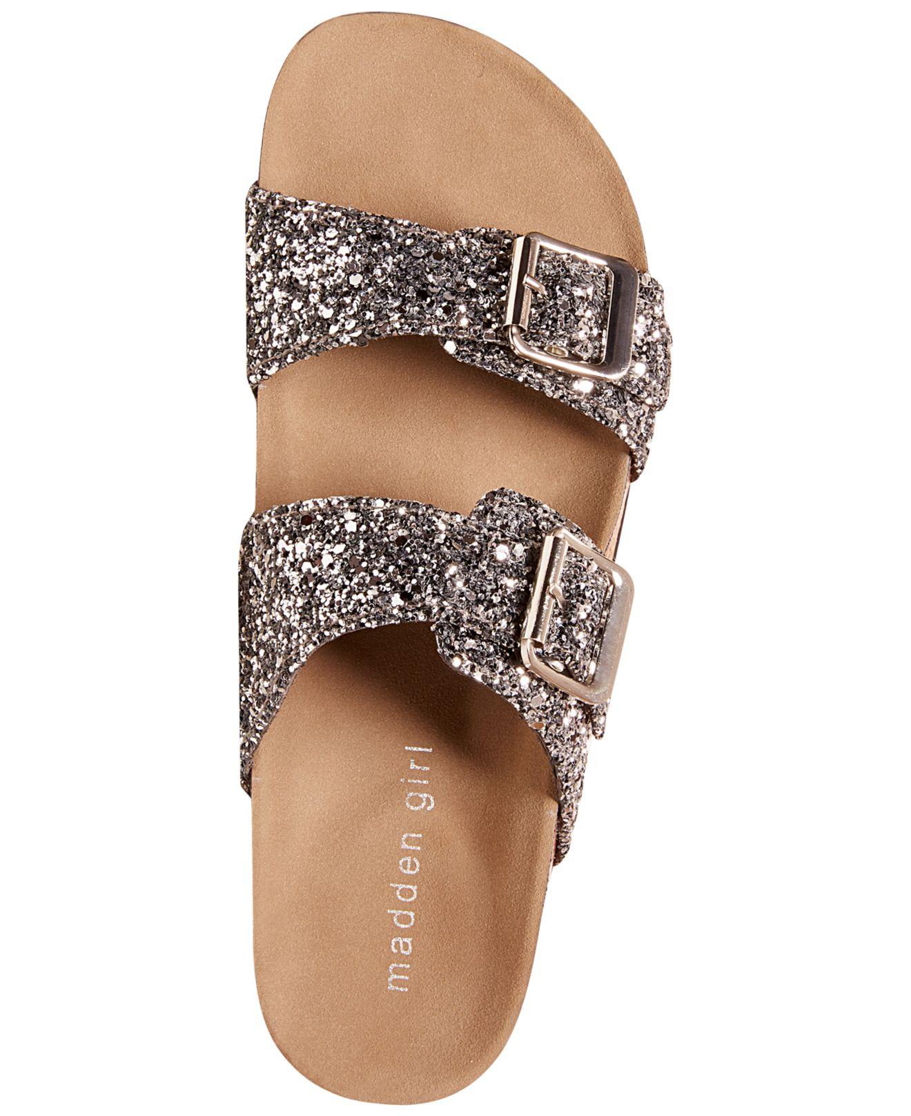 Lyst Madden Girl Brando Glitter Faux Leather Sandals In