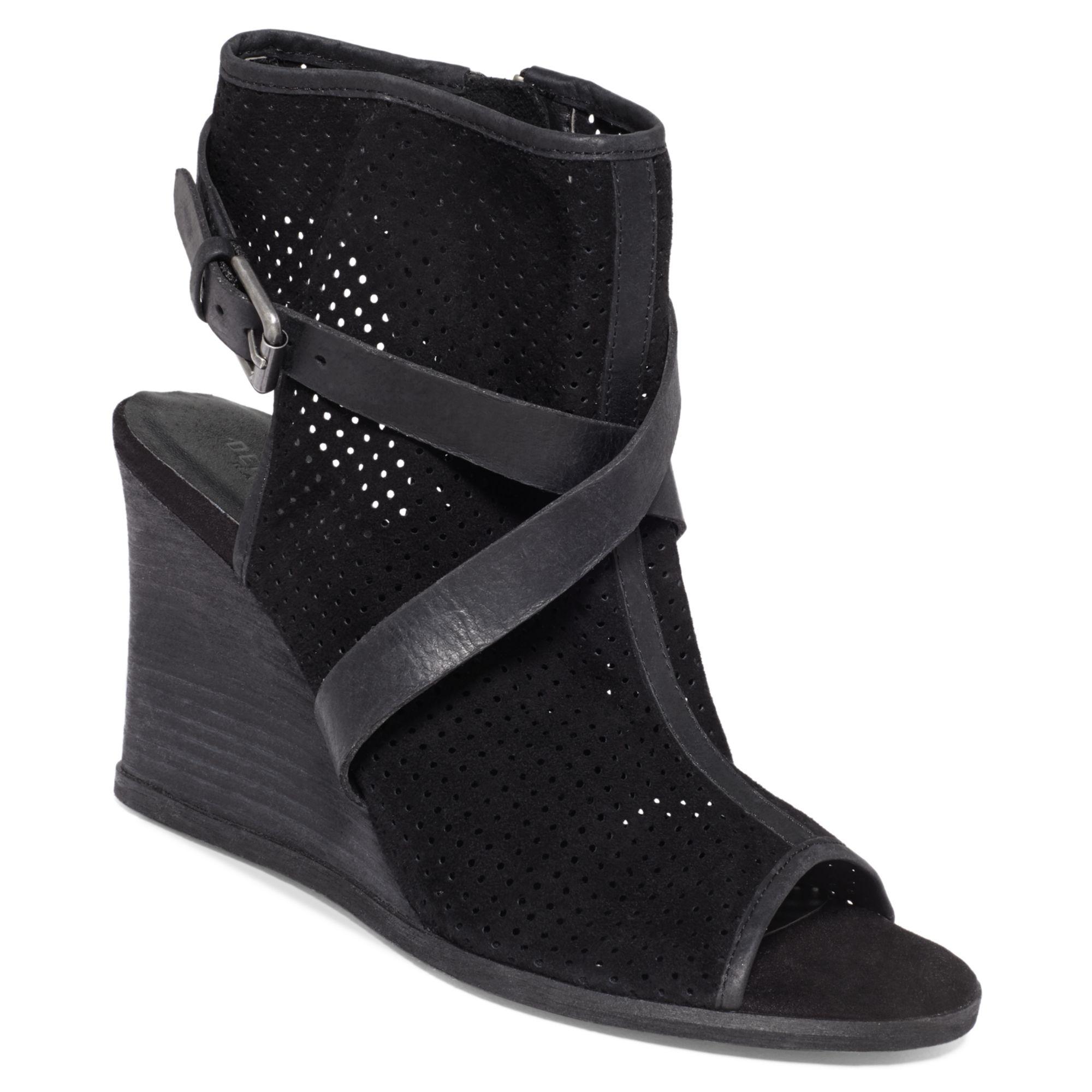 denim supply ralph wedge sandals in black
