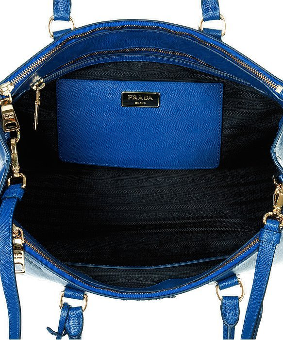 Prada Bn1786 Bag - Navy Blue Bluette Saffiano Lux Calf Leather ...