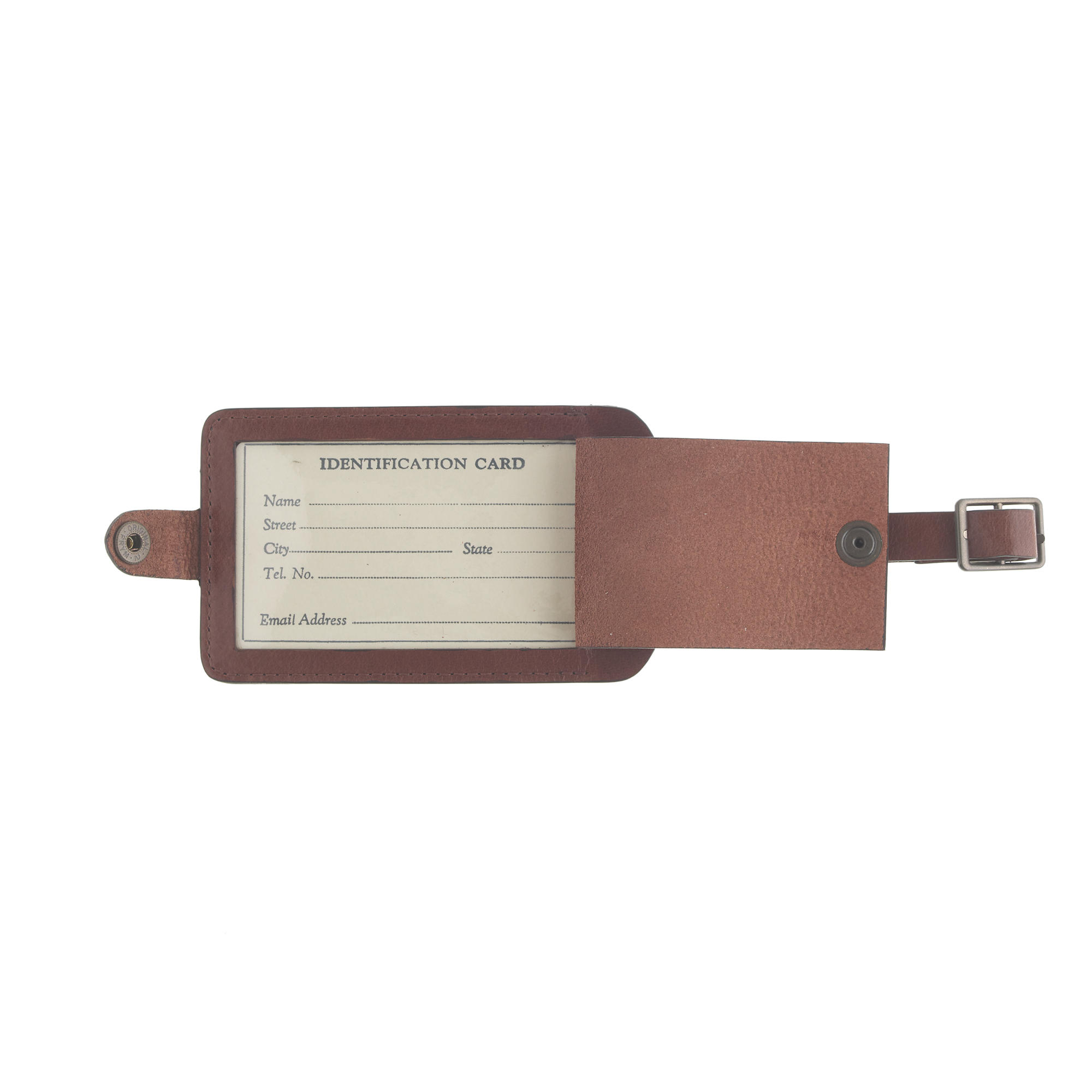 J.crew Leather Luggage Tag in Brown for Men | Lyst